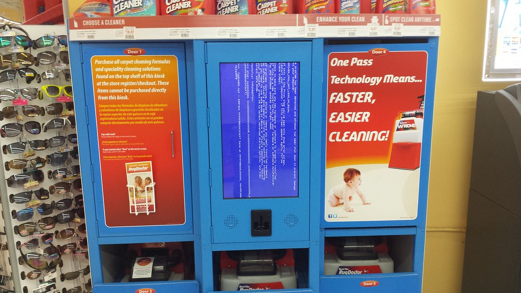 blue screen of death at rug doctor kiosk by maddogca u2026