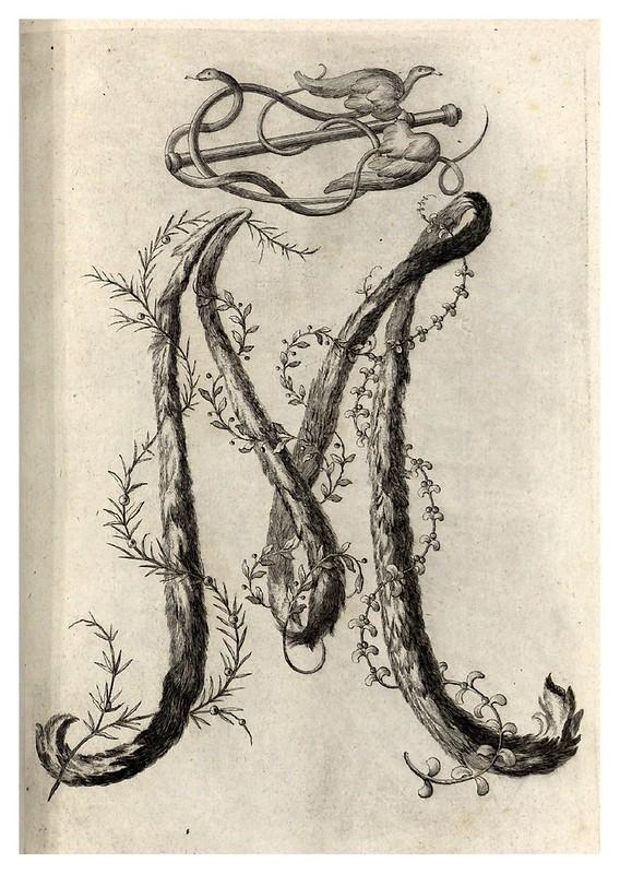 006-Letra M-Alphabet orné 1760 -BNF-Gallica