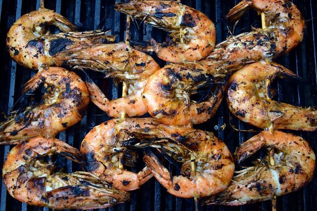 Easy Giant Barbecue Cajun Shrimp | www.rachelphipps.com @rachelphipps