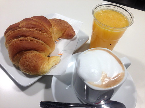 Breakfast at the Airport