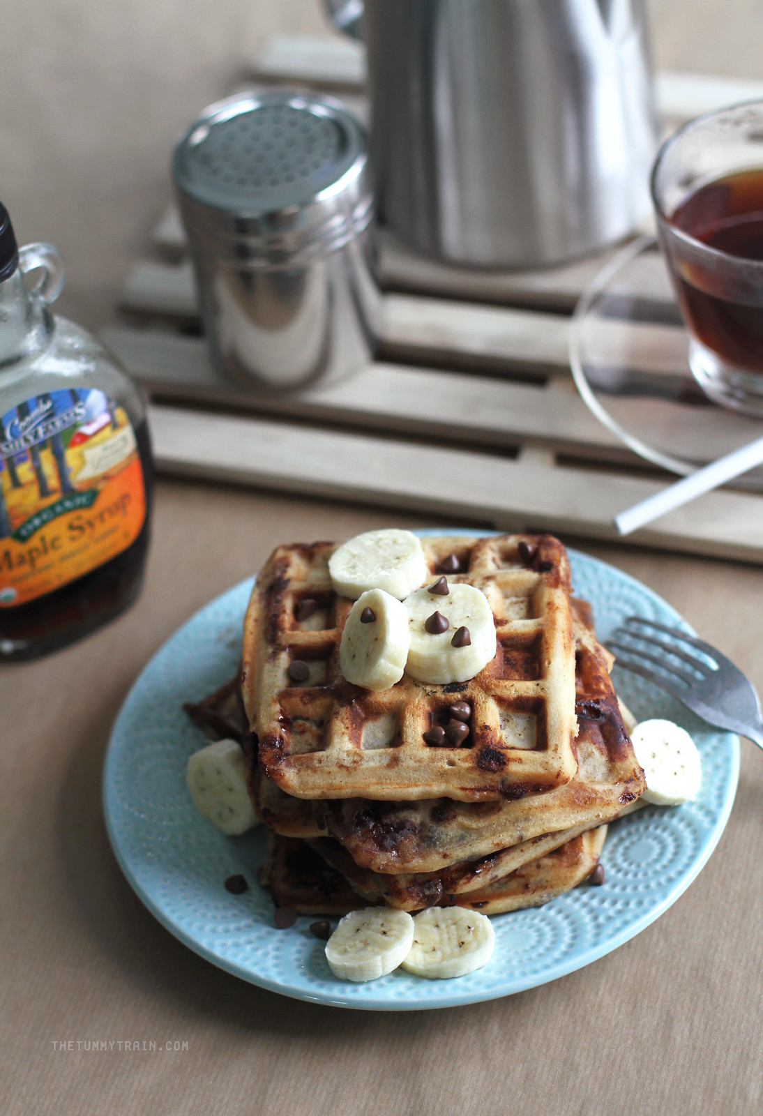 16889331406 2707a8baac h - Peanut Butter Banana Waffles coz it's Waffle Day!