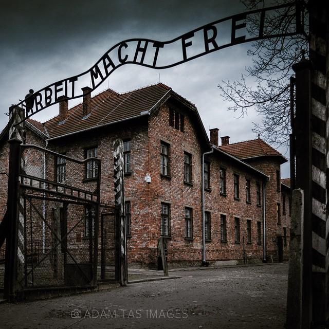 "Auschwitz-Birkenau State Museum. Arbeit macht Frei means ""work makes one free"" at the main gate to the camp. #auschwitz #auschwitzmemorial #holocaust #history #wwii #worldwarii #oswiecim #poland #polska #adamtasimages #camp #birkenau"