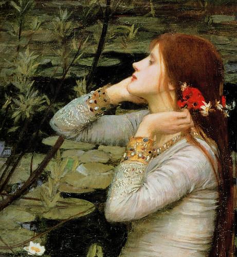 """Ophelia S Adornments Blog Plum Crazy: """"Ophelia"""" (detail) 1894 John William Waterhouse"""