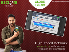 Bloom GLOBE Lite 3G With High Speed Network Connectivity And Memory To Download