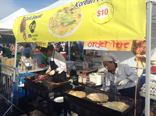 韩国烤鱿鱼、煎饼