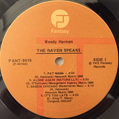 WOODY HERMAN:THE RAVEN SPEAKS(LABEL SIDE-A)