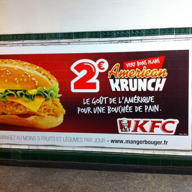 American food. As viewed by KFC in #France.  I'm at a loss for words.