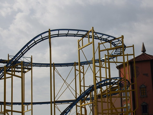 Empty | Loved the shape of this empty roller coaster on ...