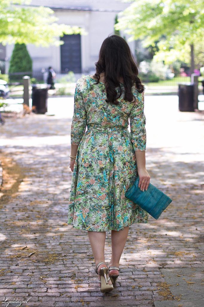 vintage floral dress, turquoise snake skin clutch-10.jpg