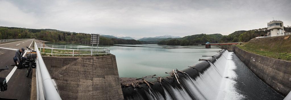 At Makomanai Dam north of Kitahiyama, Hokkaido, Japan