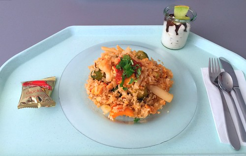 Kao Pad - Fried rice with egg & vegetables / Gebratener Reis mit Ei & Gemüse