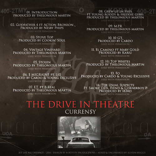 Curren$y - The Drive-In Theatre (Back) | by fortyfps