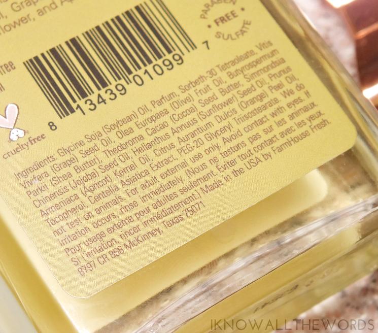 farm house fresh citrus cilantro body oil (1)