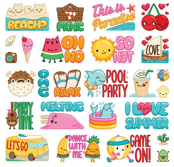 Summer Viber stickers | Sasa Elebea | Flickr