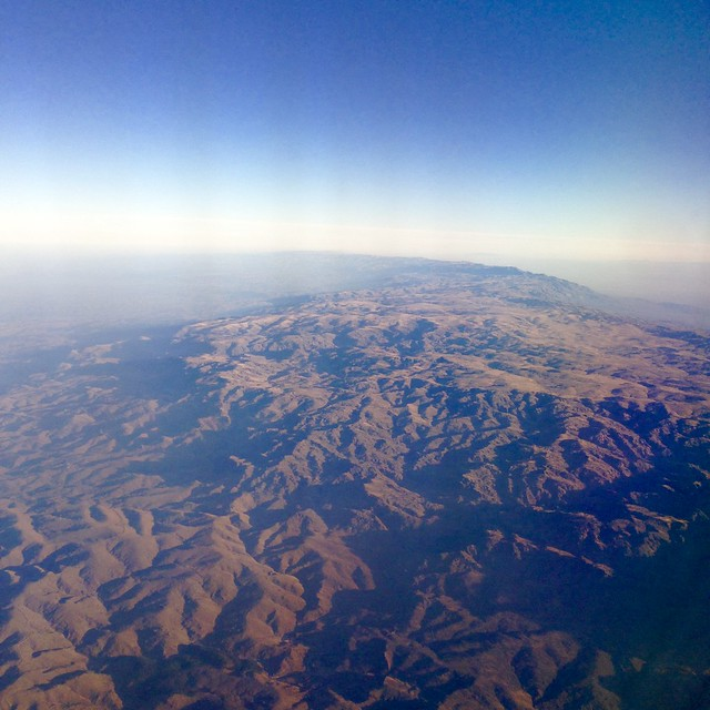 Aerial view of Flight from Mendoza to Cordoba