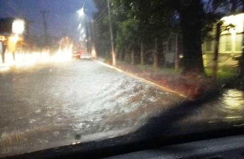 Avenida Universidad inundada