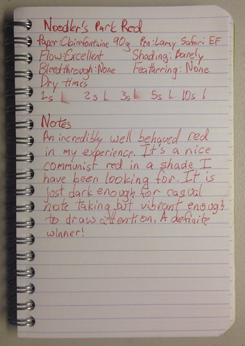 Noodler's Park Red Review | by Laike