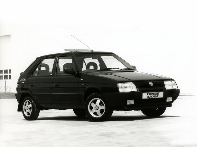 Skoda Favorit Blackline для рынка Британии. 1993 - 1994 годы