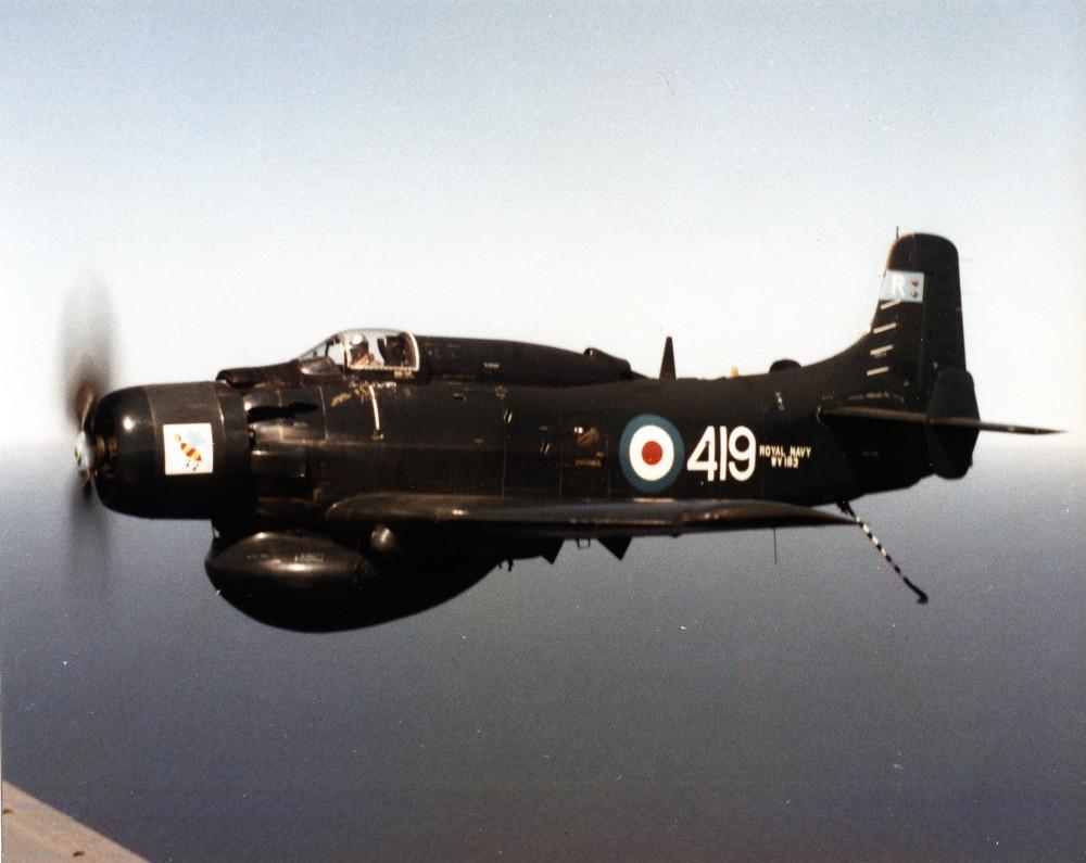 Douglas Ad 4w Douglas Skyraider Aew 1 Wv103 849sqd Royal