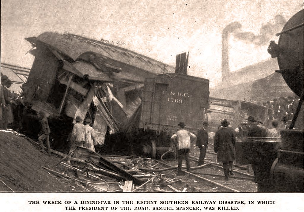 Samuel Spencer Pres Of Southern Ry Killed In Train Wreck