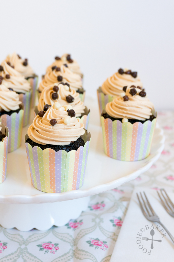 Chocolate Cupcakes with Chocolate Mousse Filling and Peanut Butter ...