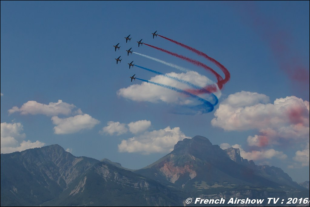 Patrouille de France , Athos , Alphajet , Patrouille de France 2016 , Grenoble Air show 2016 , Aerodrome du versoud , Aeroclub du dauphine, grenoble airshow 2016, Rhone Alpes