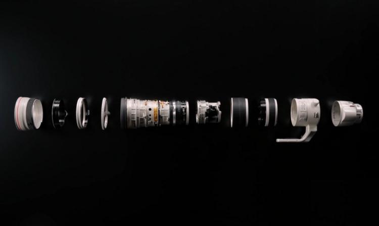 O que existe dentro de uma lente Canon EF200-400mm?