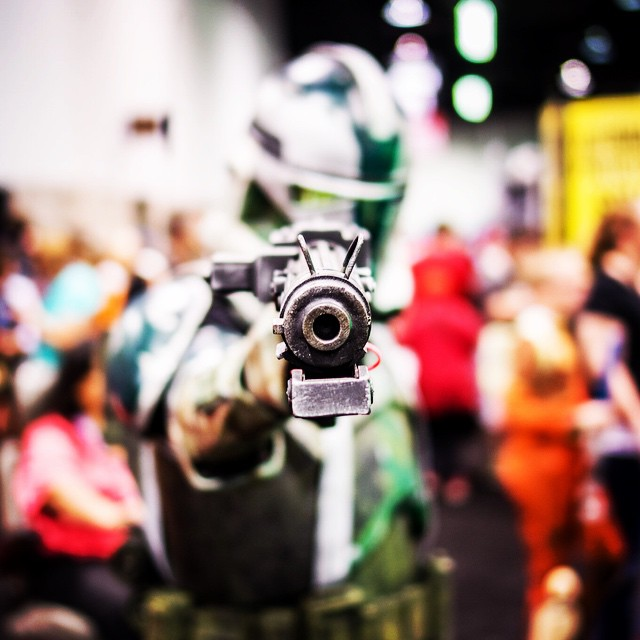Really like this shot of a Commander Gree at Celebration #starwars #yearofstarwars #cosplay #gree #commandergree #swca #starwarscelebration #clonetrooper