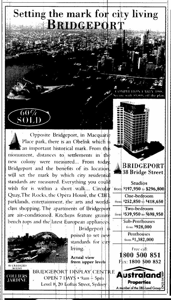 Bridgeport Ad July 5 1997 SMH 14RE