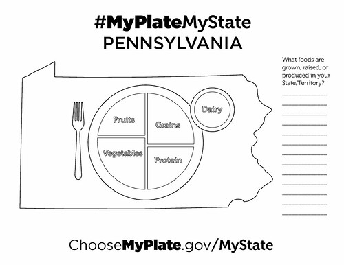 MyPlate, MyState Pennsylvania sample coloring sheet