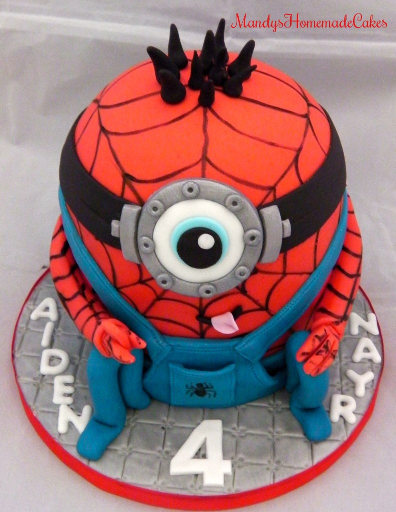 Spiderman Minion Birthday Celebration Cake Mandys Homemade Cakes