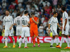 during the UEFA Champions League Semi Final, second leg match between Real Madrid and Juventus at Estadio Santiago Bernabeu on May 13, 2015 in Madrid, Spain.