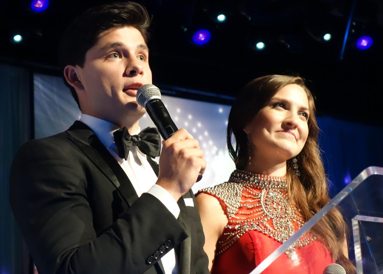 Hosts Ricardo Hoyos, a Degrassi star, and Delaney Holley, Miss Intercontinental Canada 2014