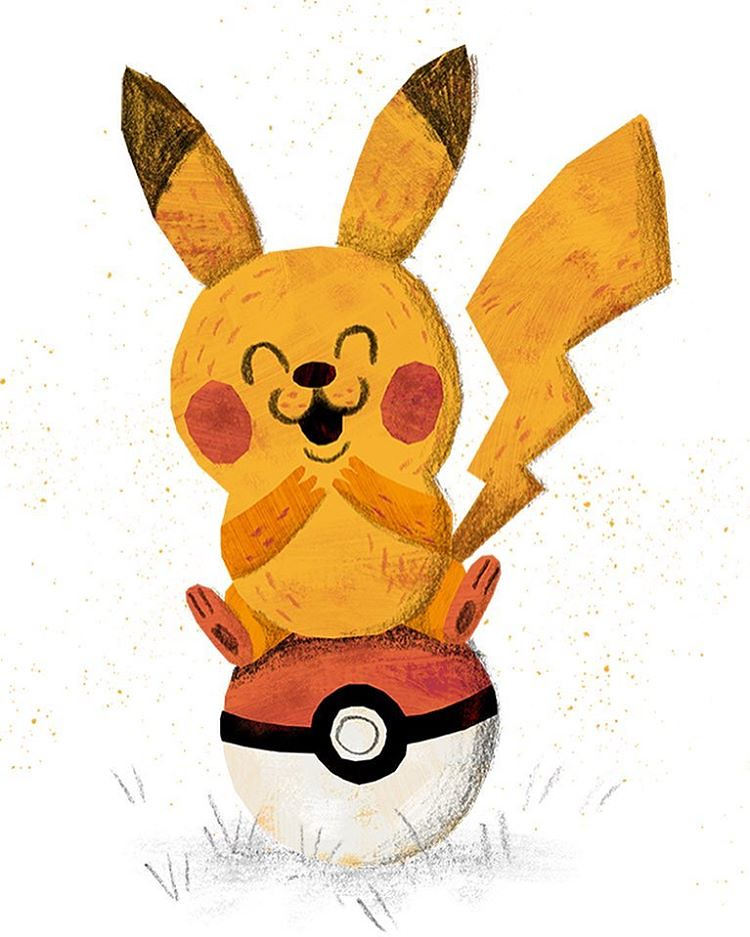 pika pika pikachu pokemon pokemongo illustration kid flickr