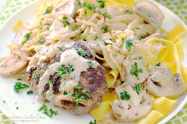 This Italian Beef Patties with Mushrooms, Onions, and Balsamic Cream Sauce recipe take hamburger patties to another level! Easy and delicious recipe! AD #TasteOfItaly