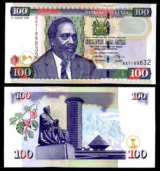 100 keňských šilingov Keňa 2004-8