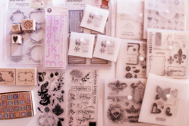 workspace wednesday // acrylic and rubber stamp sets in my etsy shop