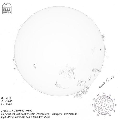 VCSE - Nap hidrogén alfa tartományban - 2015.04.15. - Bognár Tamás