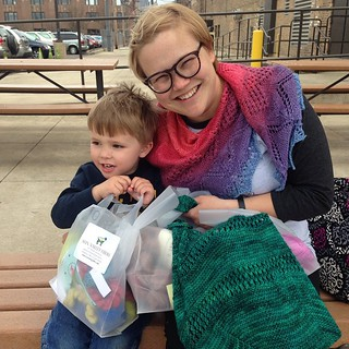 Both of had stash enhancement at #yarncon. G went a little crazy @sunvalleyfibers. #graysongram | by Sarah Shoo
