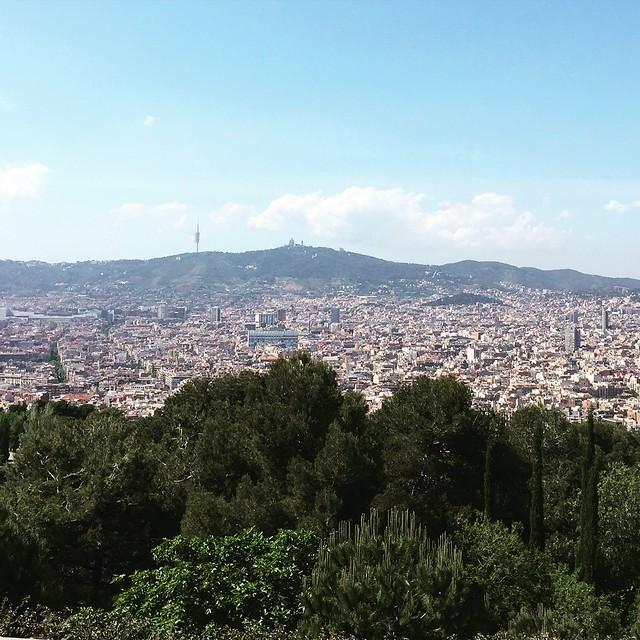 Barcelona from Montjuic Park