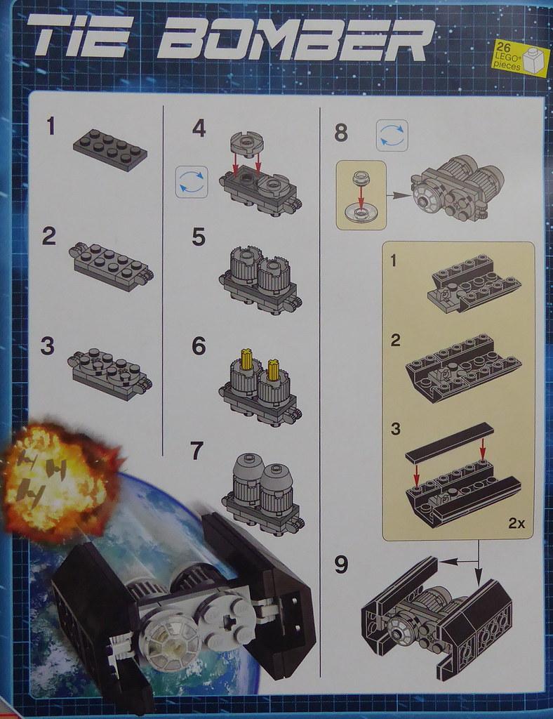 Lego Star Wars Magazine 13 Tie Bomber Instructions Flickr