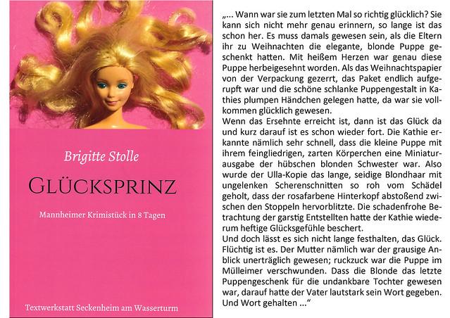 Regionalkrimi Mannheim ... Glücksprinz Mannheimer Krimistück in acht Tagen von Brigitte Stolle ... Zitag ... Glück - glücklich - Glücksprinz - Glücksmomente