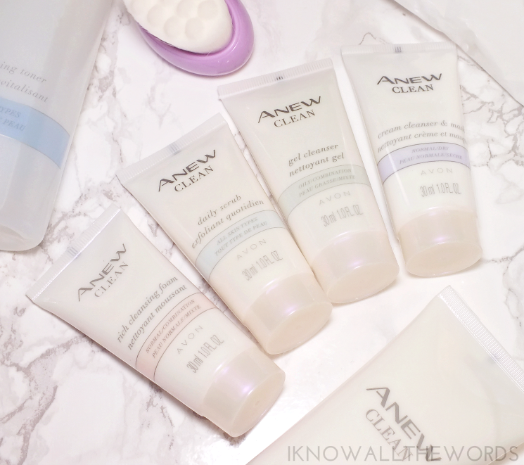 avon anew clean mini cleansers