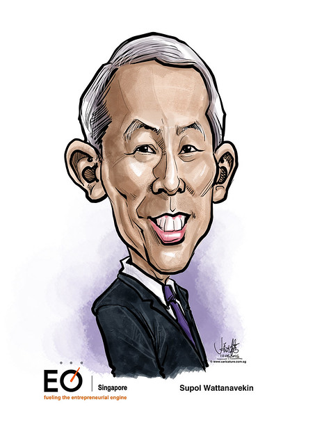 digital caricature for EO Singapore - Supol Wattanavekin