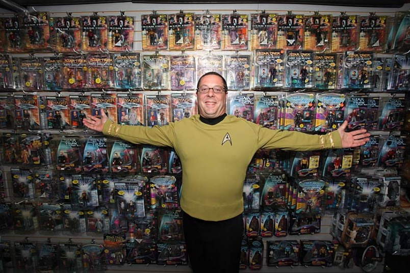 Anthony Sforza's Star Trek Man Cave, a museum of all things Trek