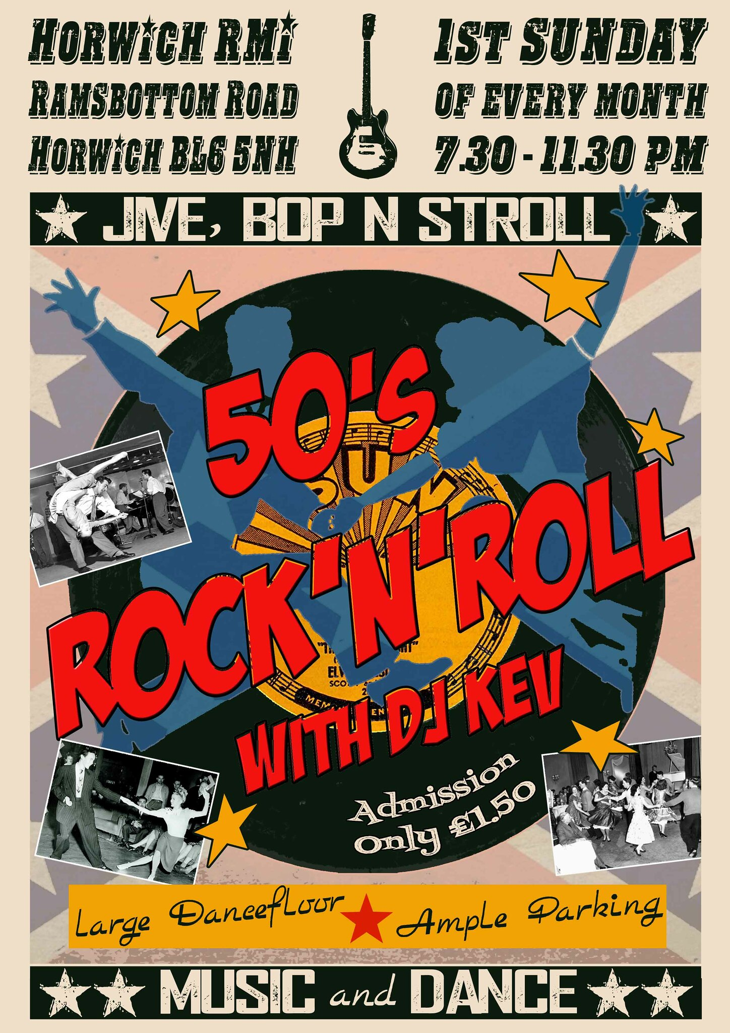 Killer Kitsch Designs 50s Rock'n'Roll Club Poster