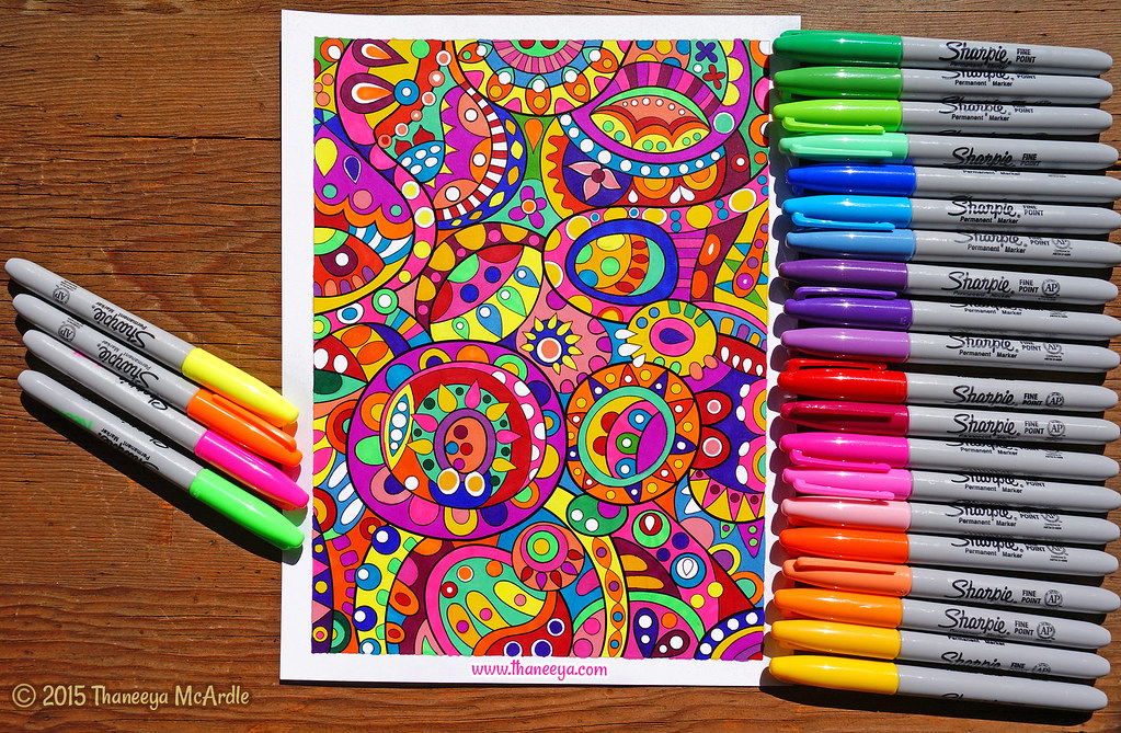 groovy abstract coloring book art by thaneeya mcardle by thaneeya - Abstract Coloring Books