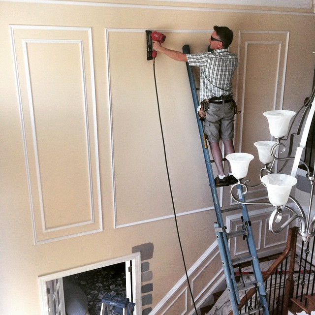 Foyer Paint Jobs : On the job shadow boxes in two story foyer richmond va ca