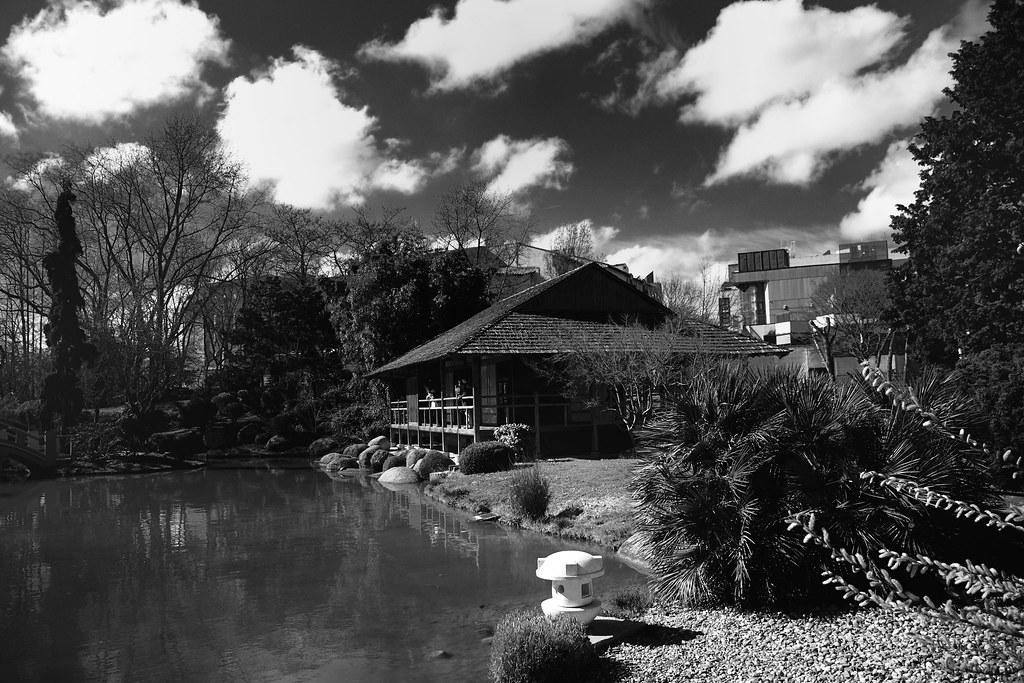 Jardin japonais noir et blanc hubert giraud flickr for Jardin noir et blanc