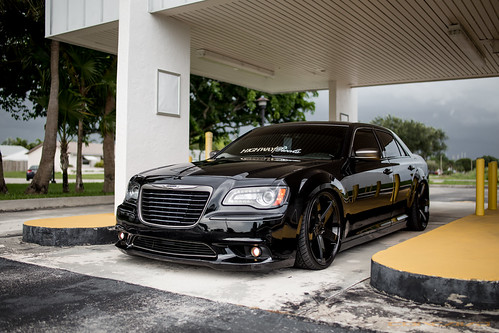 Chrysler 300c Bagged On Cw 5 Custom Liquid Smoke Finish